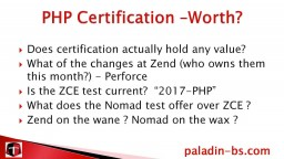 Preparing for PHP Certification