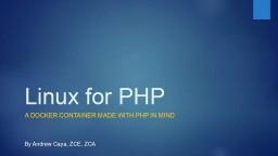 Linux for PHP