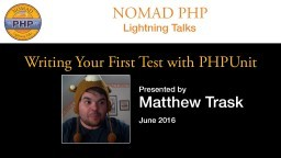 Writing Your First Test with PHPUnit