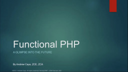 Functional PHP, a glimpse into the future