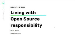 Living with open source responsibility