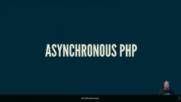 Asynchronous PHP